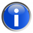 Information symbol - button — Stock Photo