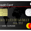 Stock Photo: Black credit card vector