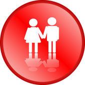 Love couple icon — Stock Photo