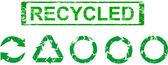 Set of recycling symbols — Stock Photo
