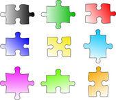 Colour puzzle pieces — Stock Photo