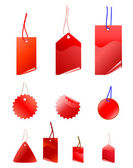 Empty red shopping tags — Foto de Stock