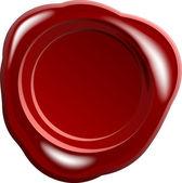 Sceau de cire rouge — Photo