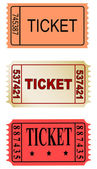 Color tickets — Stock Photo