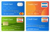 Set of color credit card vector — Stock Photo