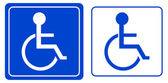 Handicap or wheelchair person symbol — Stock Photo
