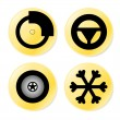Car service icons — Stock Photo