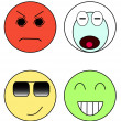 Set of emoticons — Stock Photo