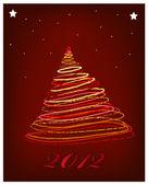рождественская елка звезды вит — Cтоковый вектор