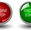 Red and green power button — Stock Photo #7956277