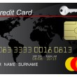 Stock Vector: Black credit card
