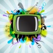 Royalty-Free Stock Vector Image: Abstract poster with the TV