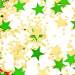 Christmas stars on a white background — Stock Photo