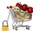 Secure Christmas shopping isolated concept — Stock Photo