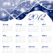 Stock Vector: 2012 yearly calenda