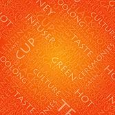 çay konsepti için turuncu arka plan — Stok Vektör