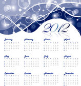 2012 yearly calenda — Stock Vector