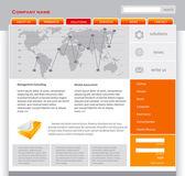 Orange webpage template — Stock Vector
