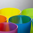 Colored plastic cups — Stock Photo #7237113