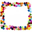 Frame of colorful beads — Stock Photo #7682426