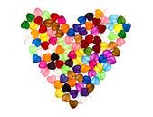 Renkli boncuklar, kalp şekli — Stok fotoğraf