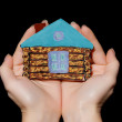 Painted house in hands — Stock Photo #7909838
