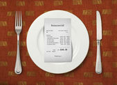 The price at restaurant — Stock Photo