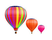 Air-balloons with path — Stock Photo