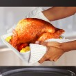 Cooking turkey — Stock Photo