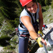Outdoor climbing — Stock Photo #6816854
