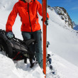 Ski touring — Stock Photo