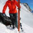 Stock Photo: Ski touring