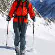 Ski touring in high mountains — Stock Photo #6817437