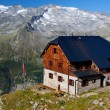 Alpine mountain hut — Stock Photo