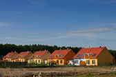 Colorful semi-detached houses — Stock Photo