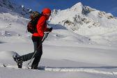 Ski touring — Stock Photo
