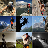 Mountain sports — Stock Photo