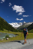 Trekking in the mountain valley — Stock Photo