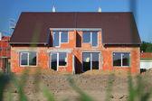 New brick family house — Stock Photo