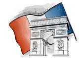 Arch of triumph — Stock Vector