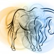 Royalty-Free Stock Vector Image: Horse sketch