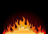 Hot flames — Stock Vector