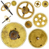 Cogwheels gears on white background — Stock Photo