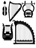 Antique strings instruments - vector — Stock Vector