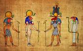 Egyptian gods and goddess — Stock Photo