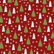 Christmas seamless wallpaper — Stock Vector