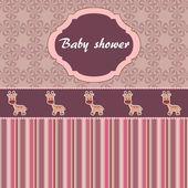 Bebek duş kart — Stok Vektör
