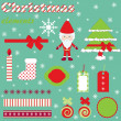 Christmas elements — Vector de stock #7313583