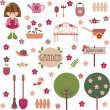 Vector de stock : Garden set