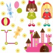 Royalty-Free Stock Vector Image: Toys for girl